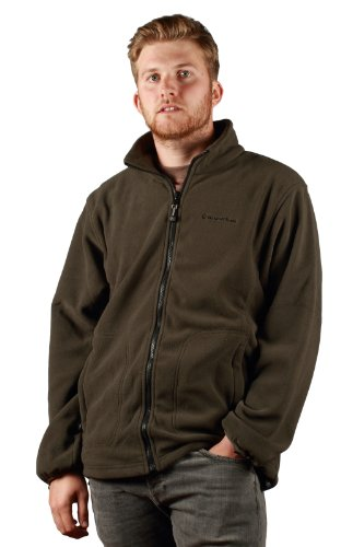 Outdoor Scene Mens Outdoor Scene Polar Fleece Jacket X-Large Khaki