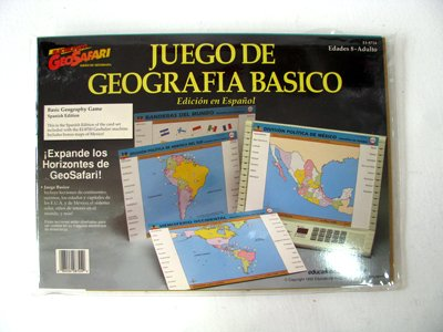 Geo Safari Spanish Geography Juegode Geografia Basico Game Cards - 1