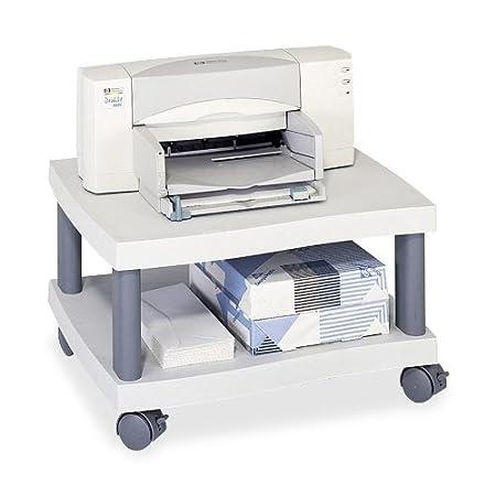 Safco® Wave Design Underdesk Printer Stand STAND,PRNTR,UNDER DESK,GY 2979814 (Pack of 2)