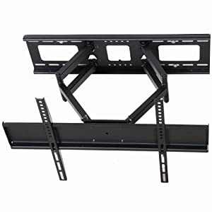 "VideoSecu Tilt Swivel TV Wall Mount 32""- 55"" LCD LED Plasma TV Flat Screen with VESA up to 600x400 mm, Full Motion Articulating Dual Arm Mount Fits up to 24"" Studs MW365B2 C20"