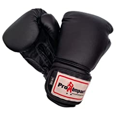 Buy Pro Impact Pro Style Boxing Gloves Black 12 Oz by Pro Impact