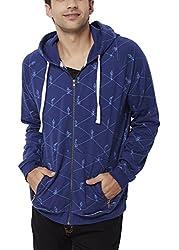 Chumbak Men's Cotton Sweatshirt (8904218038829_CTS072 XL_X-Large_Navy Blue)