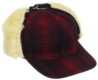 Woolrich Men's Heritage Plaid Cap, Red/Black, Medium