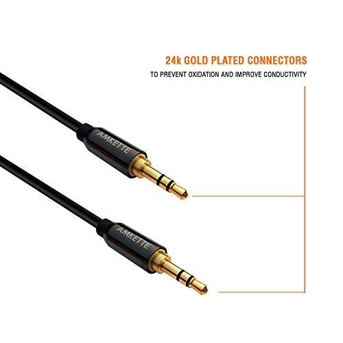 Amkette car stereo  aux cable  12m