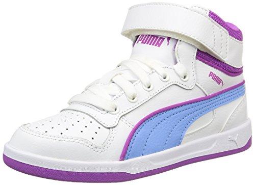 Puma - Liza Mid, Sneakers per bambine e ragazze, Bianco (Blanc (White/Little Boy Blue)), 34