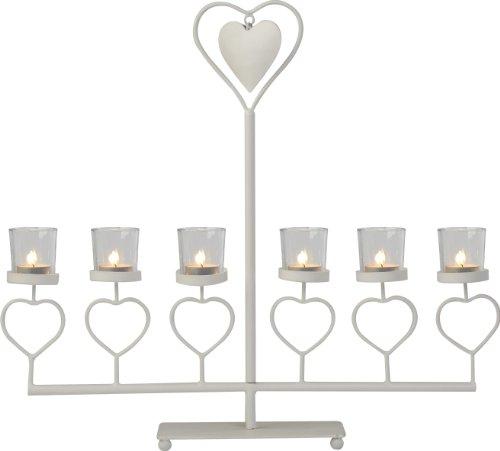 Firefly Ivyline Classique Heart Candelabra, 40 cm