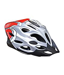 Cockatoo Professional Cycling / Skating Adjustable Helmet Black/Silver/Red