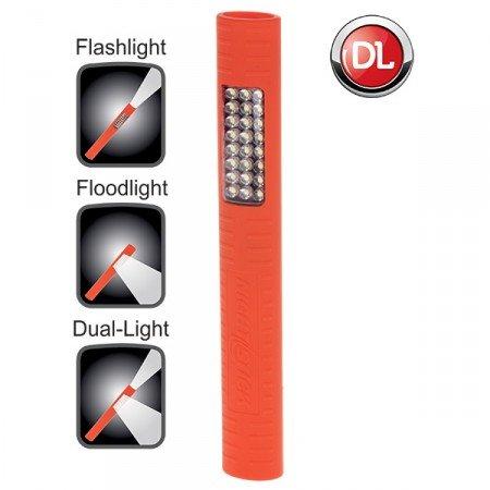 Bayco Nsp-1224 Night Stick Slim-Line Flashlight 25 Led, Orange Soft Touch