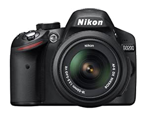 Nikon D3200 24.2 MP CMOS Digital SLR with 18-55mm f/3.5-5.6 AF-S DX VR NIKKOR Zoom Lens (Refurbished)