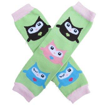Owl Green Baby Leggings/Leggies/Leg Warmers- Girls & One Size By Bububibi front-1001157