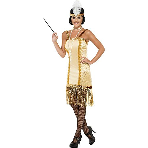 Gold Charleston Flapper Adult Costume