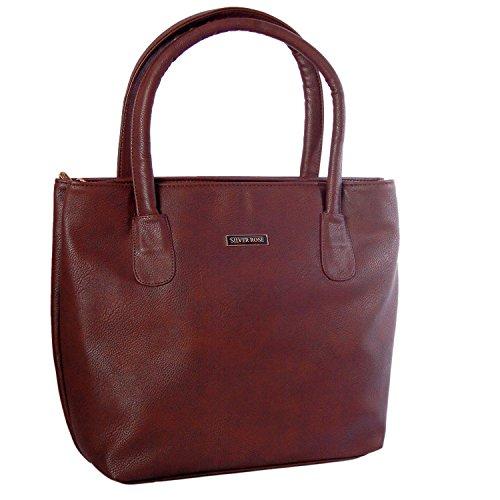 Womaniya Womaniya PU Brown Handbag For Women(Size-40 Cm X 32 Cm X 10 Cm)