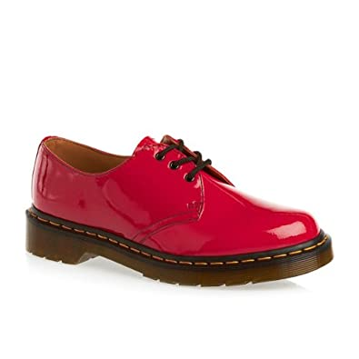 Dr Martens 1461 Patent Lamper Shoes - Red