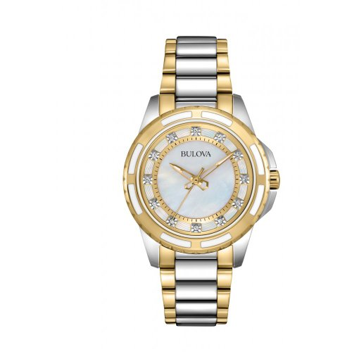 For sale Bulova Women's 98P140 Analog Display Japanese Quartz Two Tone Watch