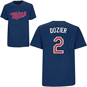 Brian Dozier Minnesota Twins Navy Player T-Shirt by Majestic by Majestic