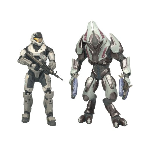 McFarlane Toys Halo Reach Series 1 Spartan Mark V [B] (Male) & Elite Ultra 2 Pack (Halo Reach Spartan Action Figures compare prices)