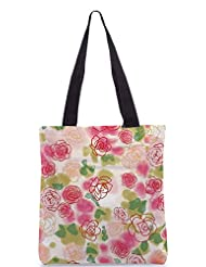 Snoogg Flower Style Poly Canvas Tote Bag