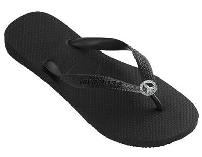 Amazon.com: Dini's HAVAIANAS Fashion Jeweled Flip Flops, Crystal Peace