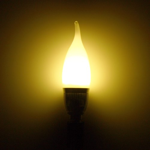 Yesurprise E14 Kerze LED Lampe Gluehbirne 3W AC85-265V kaltweiss HIGH POWER SMD