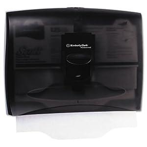Kimberly-Clark 09506 IN-SIGHT Toilet Seat Cover Dispenser, 17 2/5 x 3 1/3 x 13, Smoke/Gray