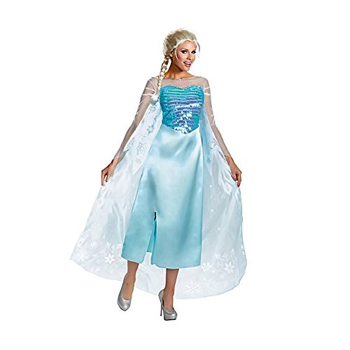 Shindigz Clothing Frozen Elsa Deluxe Halloween Costume Size 12-14