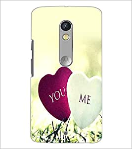 PrintDhaba Hearts D-2393 Back Case Cover for MOTOROLA MOTO X PLAY (Multi-Coloured)