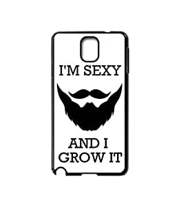 Krazycases Beardness Back Shell Cover For Samsung Galaxy Note 3