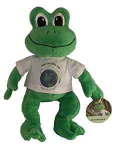 Green Plush Frog - Unique Frog Gifts - Polly the Travel Frog