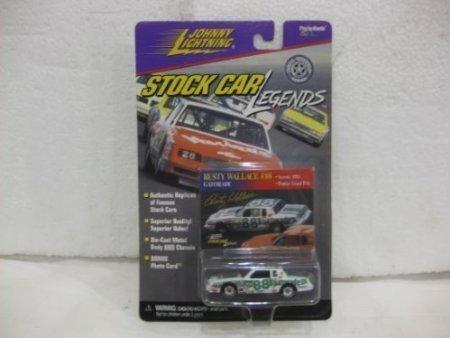 rusty-wallace-88-gatorade-1984-pontiac-grand-prix-in-white-green-diecast-164-scale-stock-car-legends