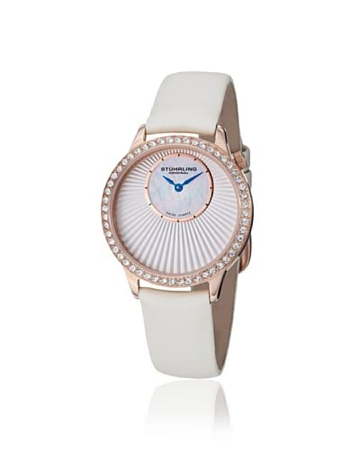 Stuhrling Women's 336.124P2 Radiant Vogue White/Rose Stainless Steel Watch