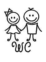 Ambiance-sticker Vinilo Decorativo Happy Toilet Sign