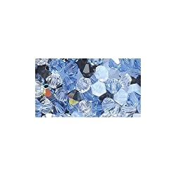 Preciosa 4-Mm Czech Crystal Diamond/Bicone Bead, Glacier Mix, 144-Piece