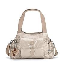 Kipling Women's Felix Large Metallic Handbag One Size Golden Rod Metallic