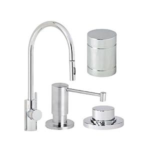 waterstone 5400 4 wt parche single handle kitchen faucet