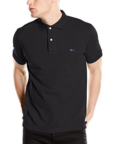 Cortefiel Poloshirt schwarz