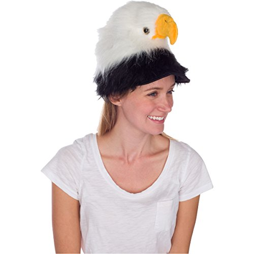 Rittle Bald Eagle Animal Hat, Realistic Plush Bird Costume Headwear - One Size