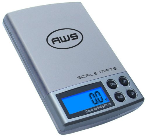 American Weigh Scale Scalemate Sm-dr Dual Range Pocket Scale, Silver, 100 X 0.01 G/500 X 0.1 G