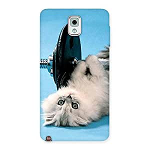Enticing Fit Cat Multicolor Back Case Cover for Galaxy Note 3