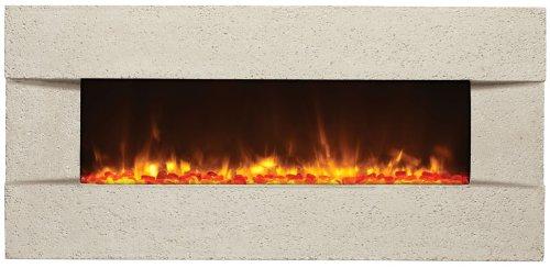"Amantii Artisan 51"" Builtn Electric Fireplace Classico Tuscan Cream Bltin5124Classicotuscanc"