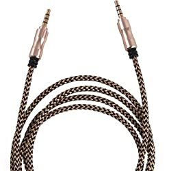 Alcatel OT-891 Soul Compatible Aux Cable / Auxilury Cable / Car Stereo Cable -(Color May Vary As Per Availability)