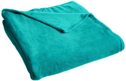 Rampage Plush Blanket, Twin, Jade front-386504