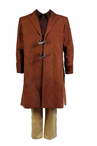 [Dben Serenity Captain Malcolm Cosplay Brown Coat Uniform Full Set Costume] (Malcolm Merlyn Costume)