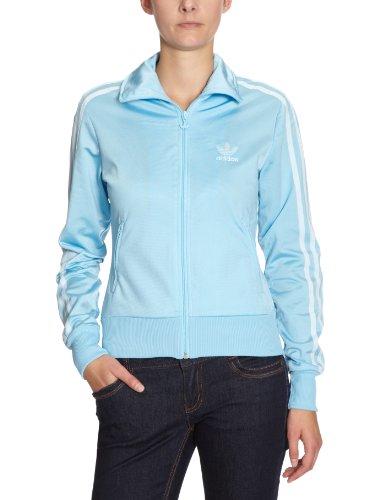 Adidas-Felpa da donna Firebird Track Top, x33511, Donna, Sweatjacke Firebird Tracktop, Zenith/alba blu, 42