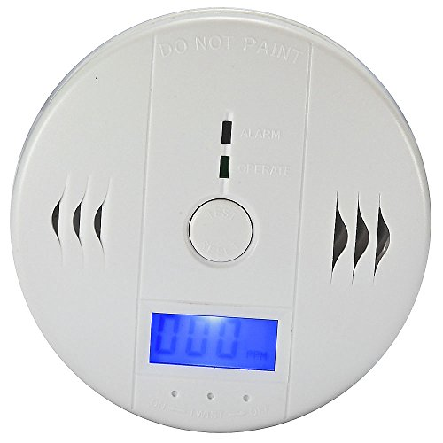 Mudder Fire Safety Carbon Monoxide Detector Alarm Co Alarm Meter Tester Battery Powered Backlight Digital Lcd Display And Voice Warning, White