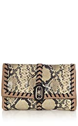 Snake and Suede Clutch