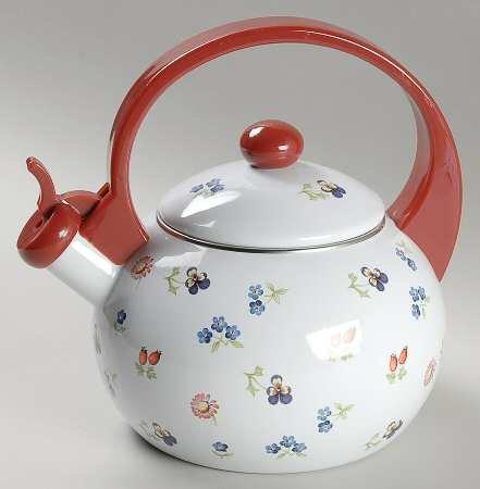 villeroy boch petite fleur metal kettle with lid. Black Bedroom Furniture Sets. Home Design Ideas