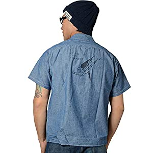 Buzz Rickson's(バズリクソンズ) BLUE CHAMBRAY S/S WORK SHIRT
