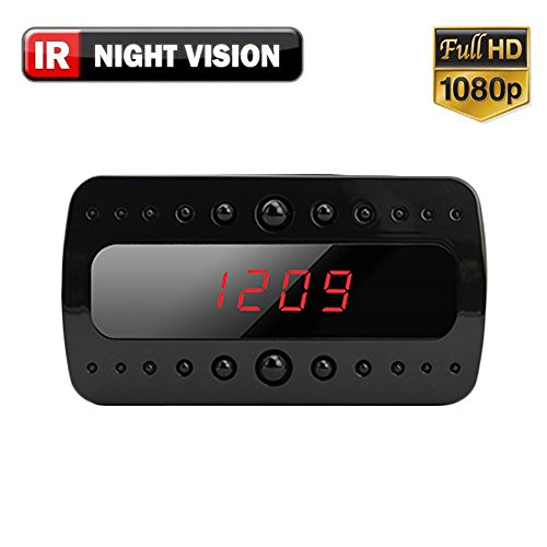 Find Cheap SpygearGadgets® 1080P HD Mini Clock Hidden Spy Camera with Night Vision and 1 Year Warra...