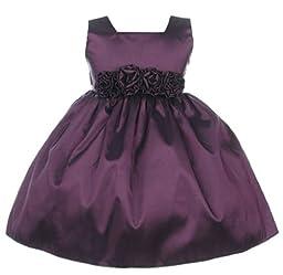 Sweet Kids Baby-Girls Slvless Dress Flw Waistband 18M Lg Plum (SK B3047)