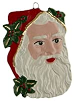 Santa Face German Pewter Christmas Ornament by Kuehn